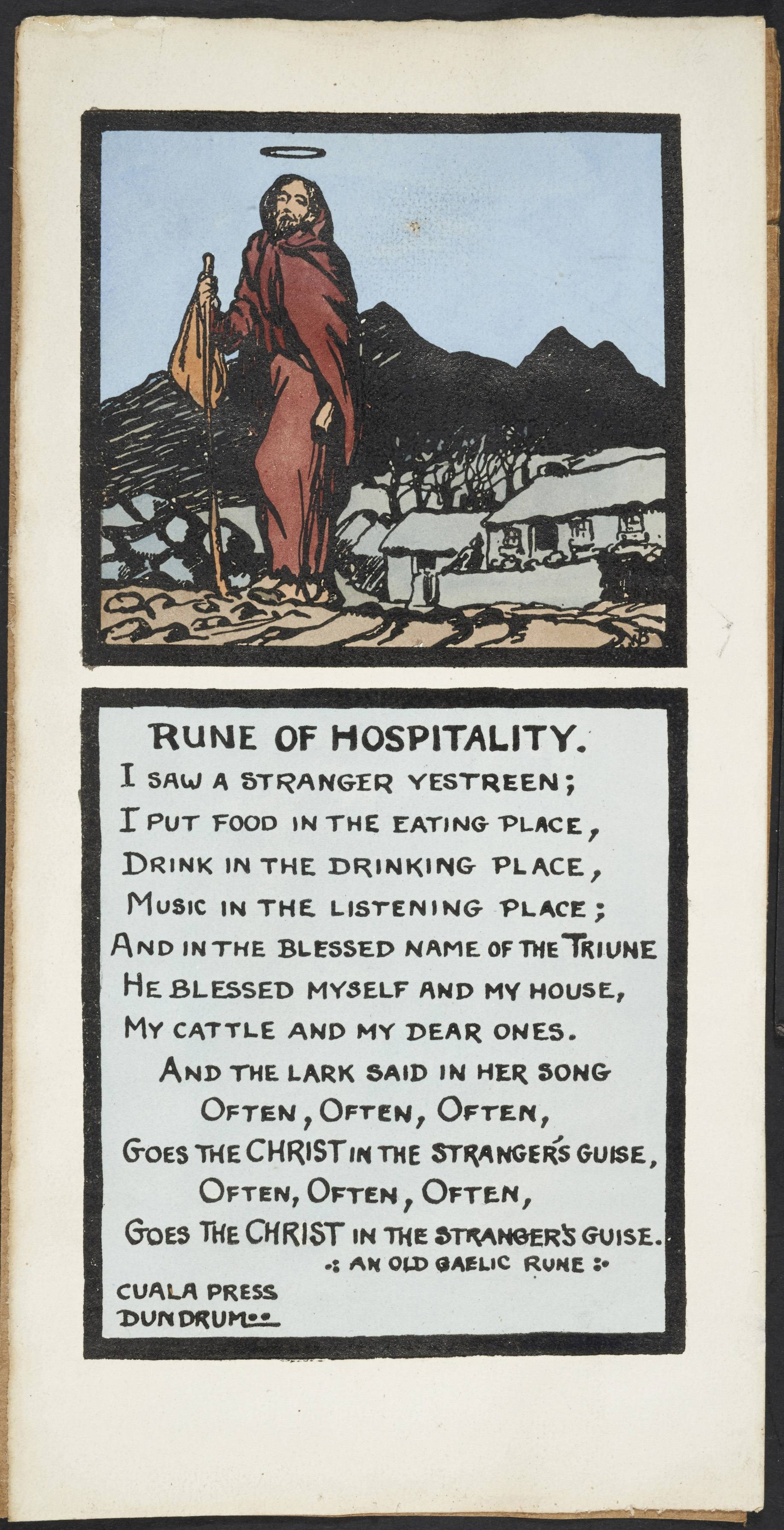 Rune of Hospitality, c. 1925 - 1940. Cuala Press.